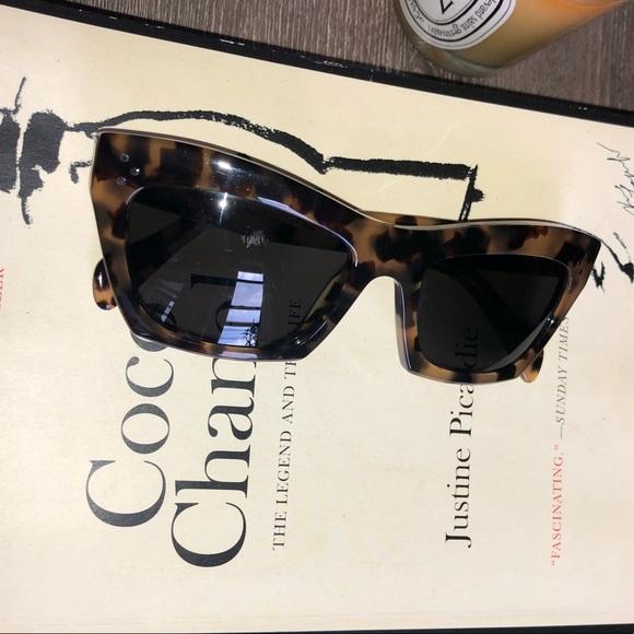53386d6ed118 Celine Accessories - Celine cat eye leopard sunglasses